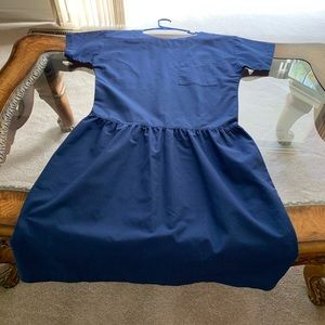 Nurse's scrub dress.